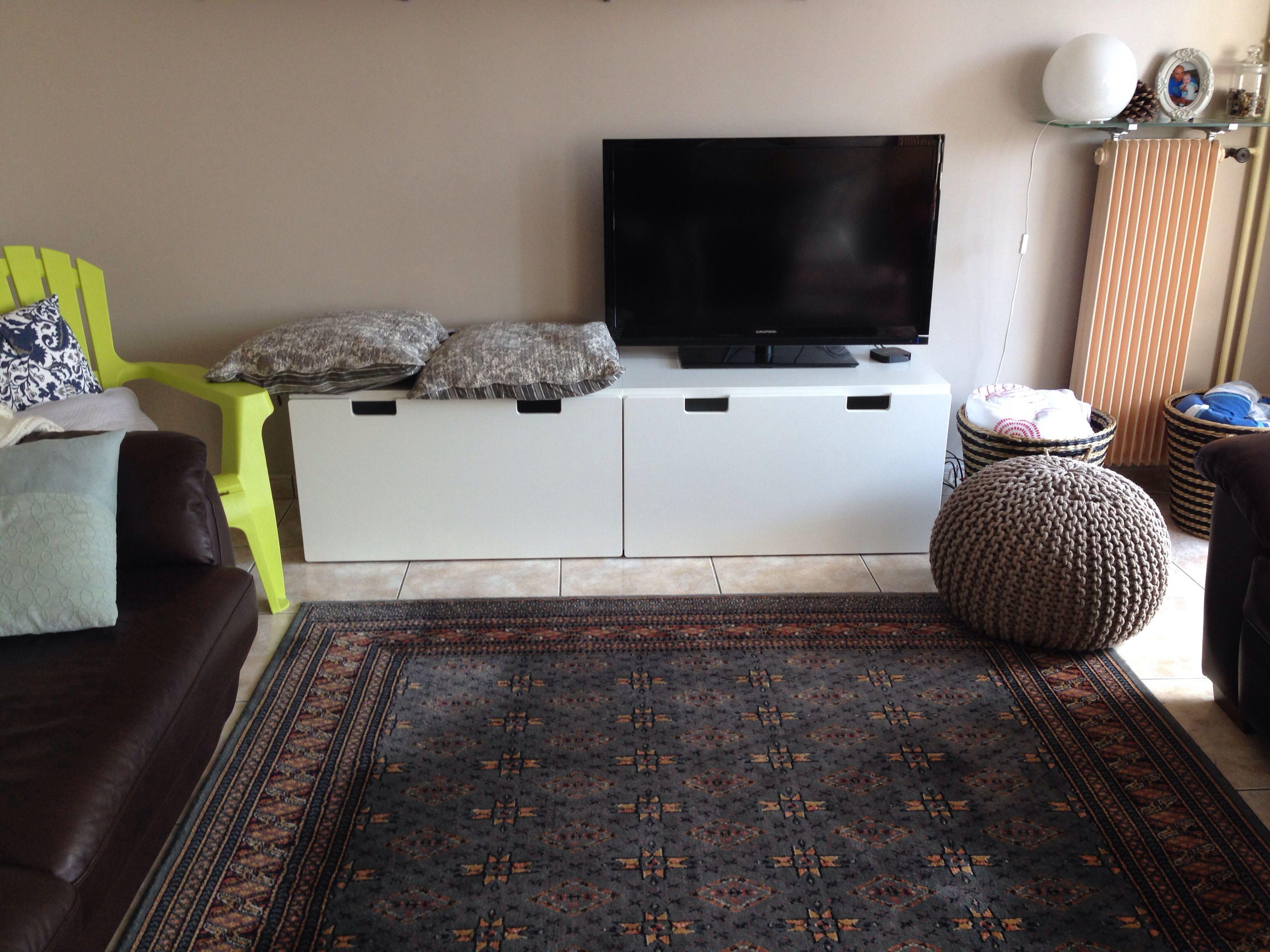 Tv Bench With Ikea Stuva Banc Tv Avec Les Coffres