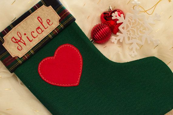 Custom Personalized Embroidered Christmas by TheCraftyStitches