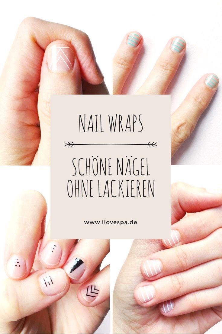 DIY Nageldesign ohne Lack - So bringt ihr Nail Wraps ganz easy und ...