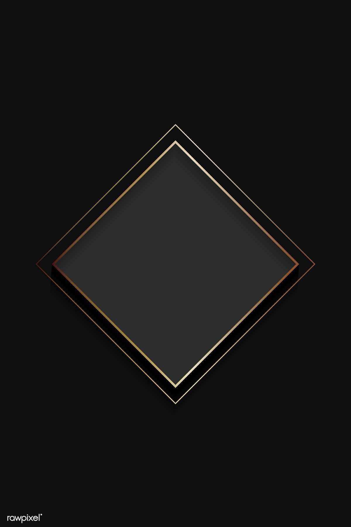 Download Premium Vector Of Blank Square Black Abstract Frame Vector 1209513 Black Abstract Poster Background Design Scrapbook Background