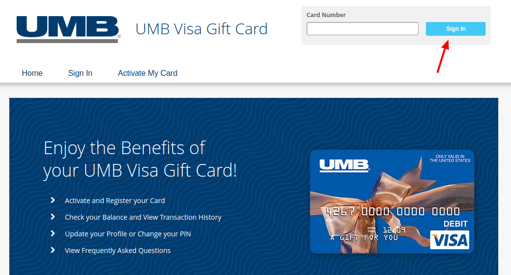 Www Umb Com Giftcard Umb Visa Gift Card Account Login Guide