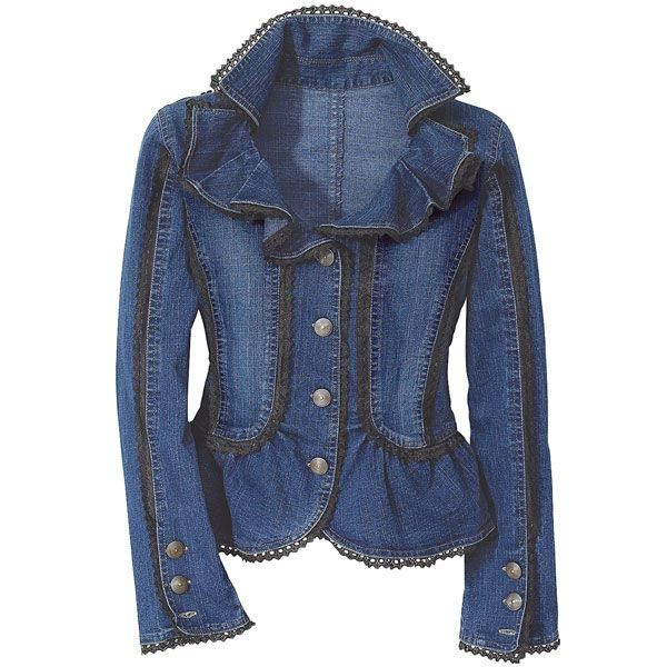 images of jeans with ruffles | Cute Jean Jackets for Women ...