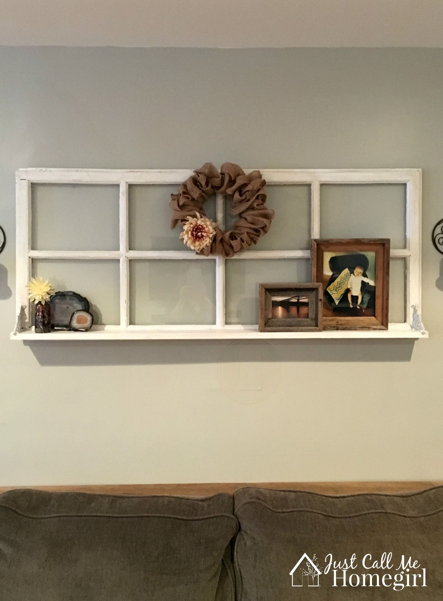 Adding A Shelf To An Old Window Old Window Decor Home Decor