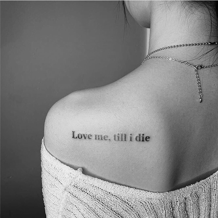 45 Small But Meaningful Words And Quotes Tattoo Designs