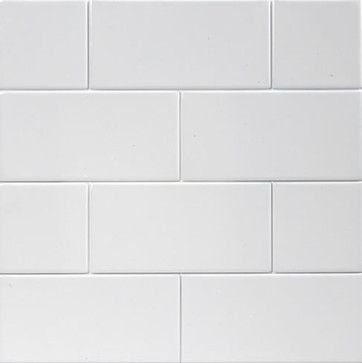 Ice White 4x10 Matte Subway Tile Box Of 11 25 Square Feet Eclectic Tile Mission Stone