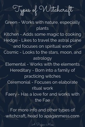 Types of Witchcraft and Magic #greenwitchcraft