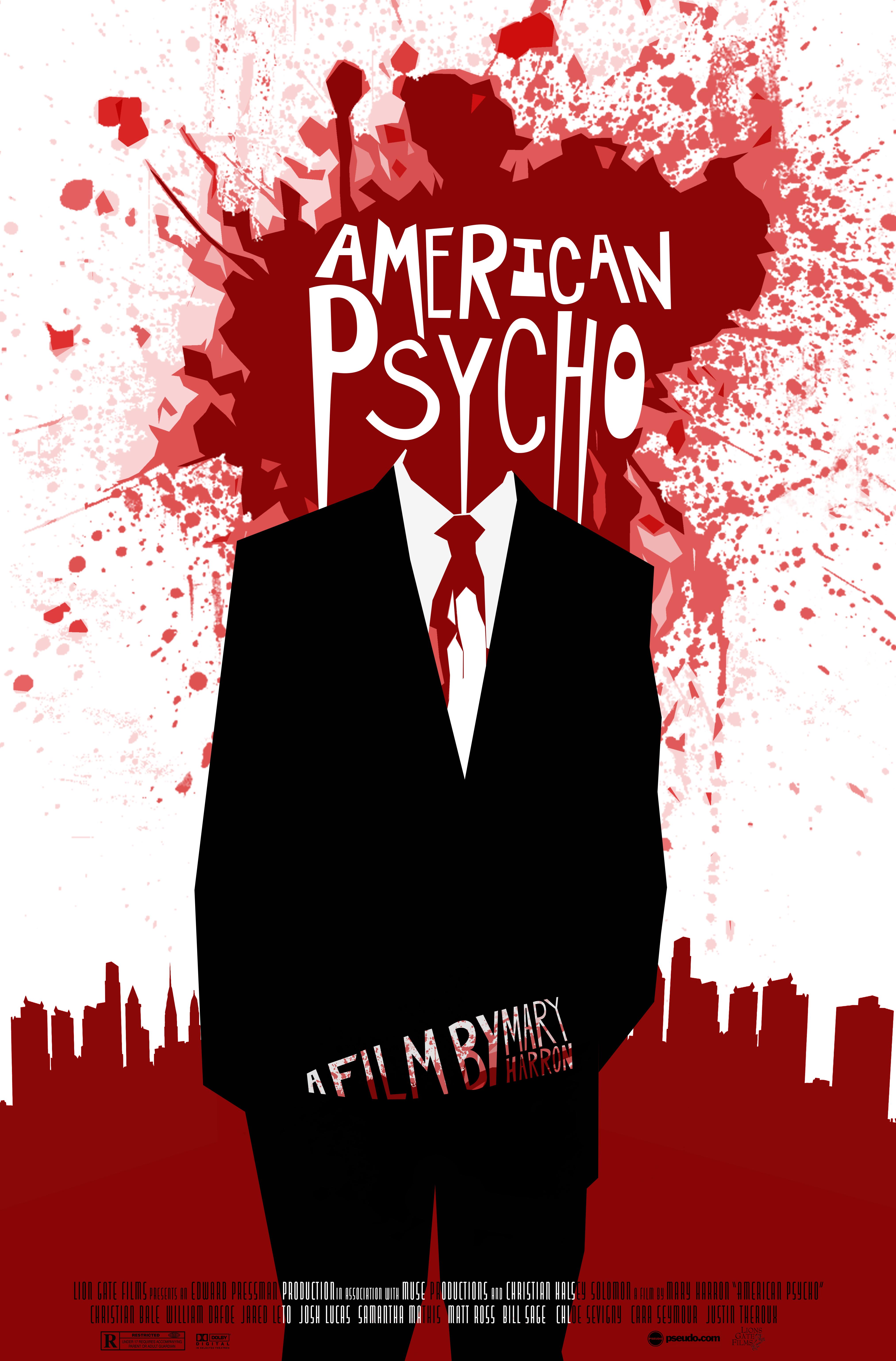 многих кино американский психопат постеры вид шахтных