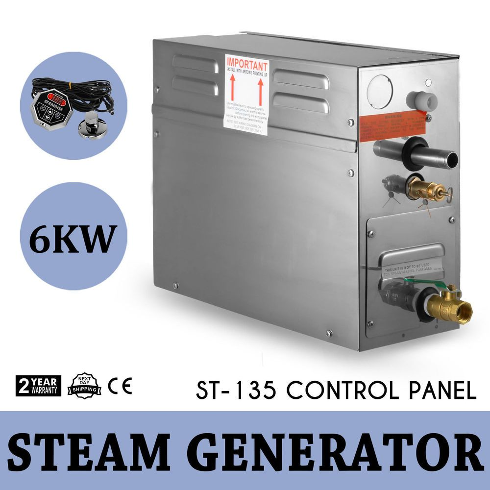 6kw Electric Sauna Bath Home Spa Shower Steam Generator Digital Timer Control Steam Generator Spa Shower Home Spa