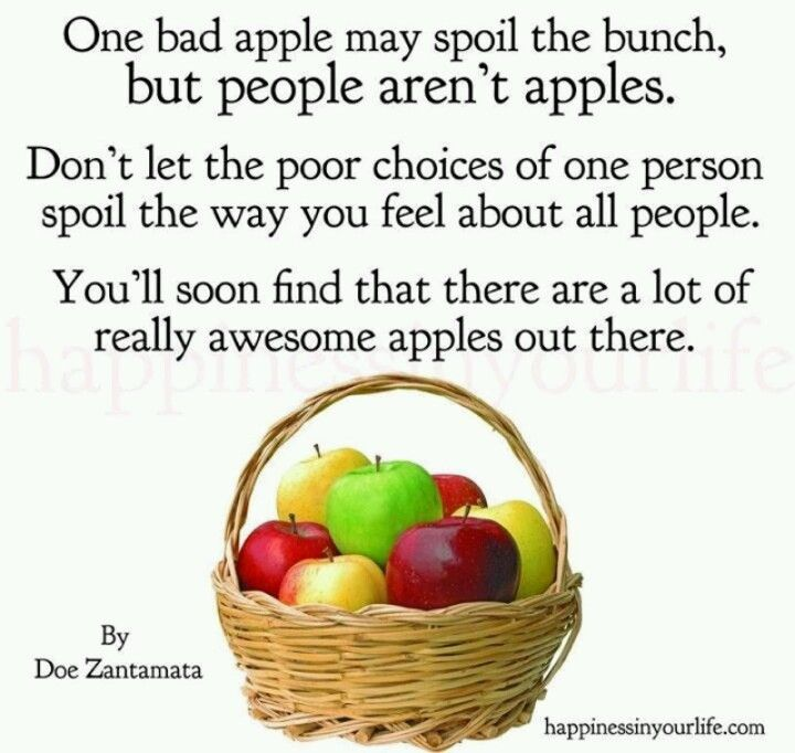 One Rotten Apple Bad Apple Quote Bad Apple Poor Quotes