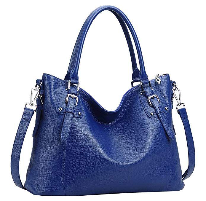 Heshe Womens Genuinne Leather Handbags Tote Top Handle Bag Shoulder Bag for Women  Crossbody Bags Ladies Designer Purse (LBlue) 0109a07f96fcf