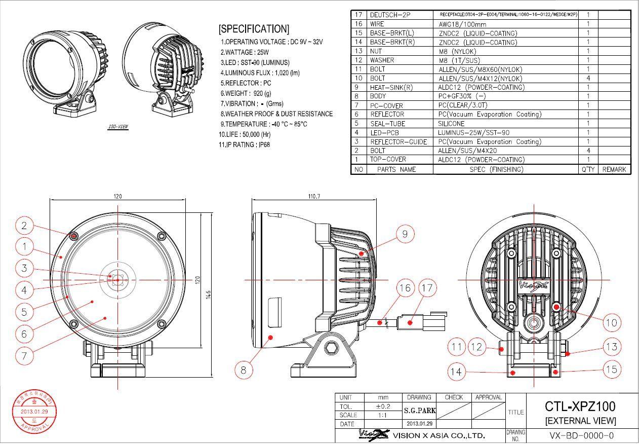 [SCHEMATICS_49CH]  Vision X Specs 4-7 Light Cannon 0.JPG (1262×876) | Reflectors, Inspiration,  Light | Vision X Light Cannon Wiring Diagram |  | Pinterest