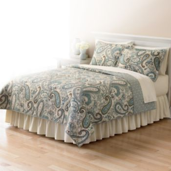 Home Classics Sarah Paisley Reversible Quilt - Twin | For the Home ... : kohls bedding quilts - Adamdwight.com