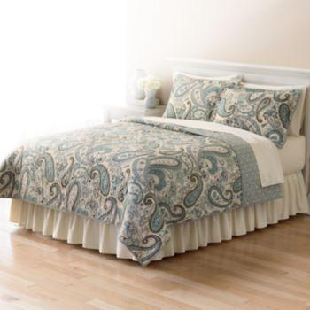 Bedroom Decor Kohl S home classics® sarah paisley quilt coordinates | bedrooms, master