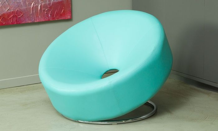 Nouvelle Bonded Leather Donut Chair | Groupon