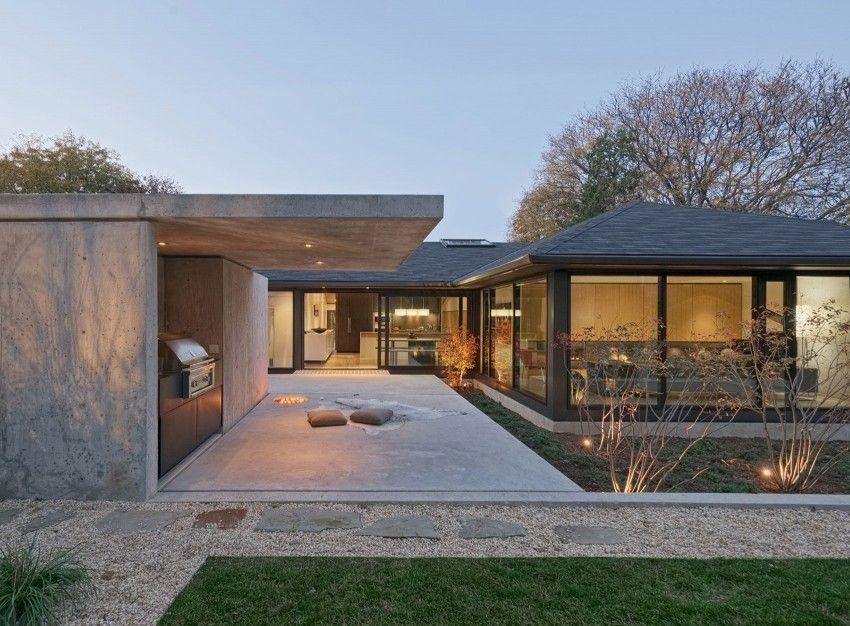Réaménagement contemporain pour une maison américaine des années 50 - budget pour construire une maison