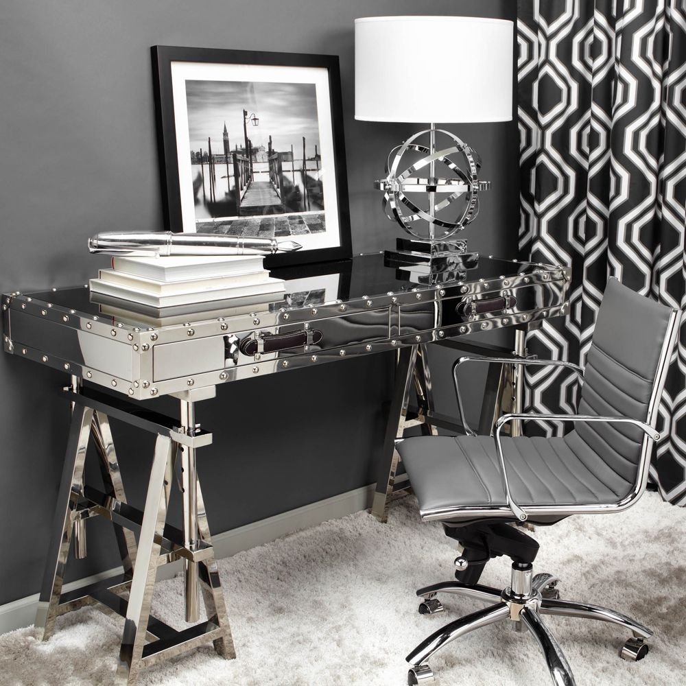 I Am In Love With This Aeronautical Inspired Flight Desk From Z Gallerie It Gives A Room An Instant Pop Of Glam S Like Adding Some Lip Gloss To Your