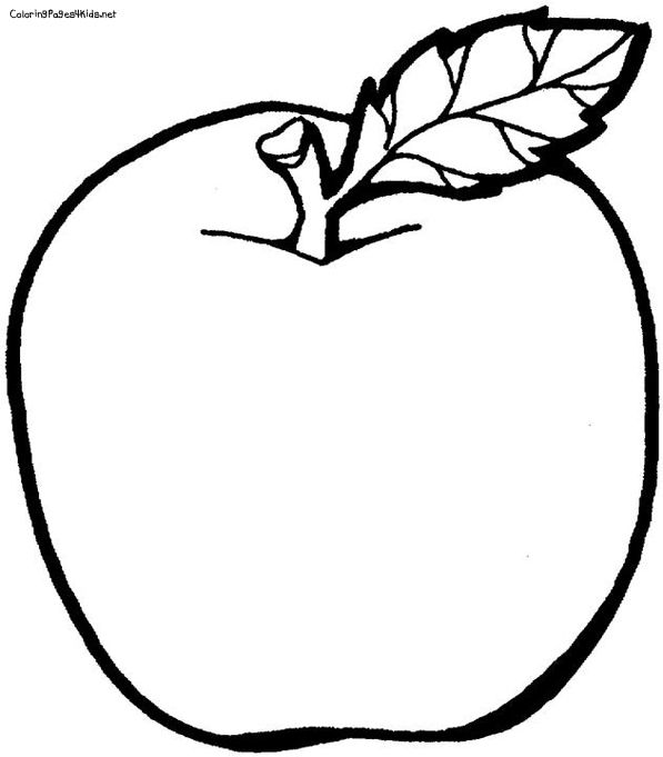 photograph relating to Apple Printable Coloring Pages titled Pin as a result of Emily upon A single upon One particular: August Fruit coloring webpages