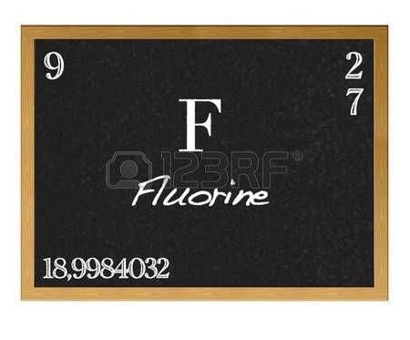 Pizarra aislada con la tabla periódica, el flúor Fluorine F - best of tabla periodica de los elementos pdf wikipedia