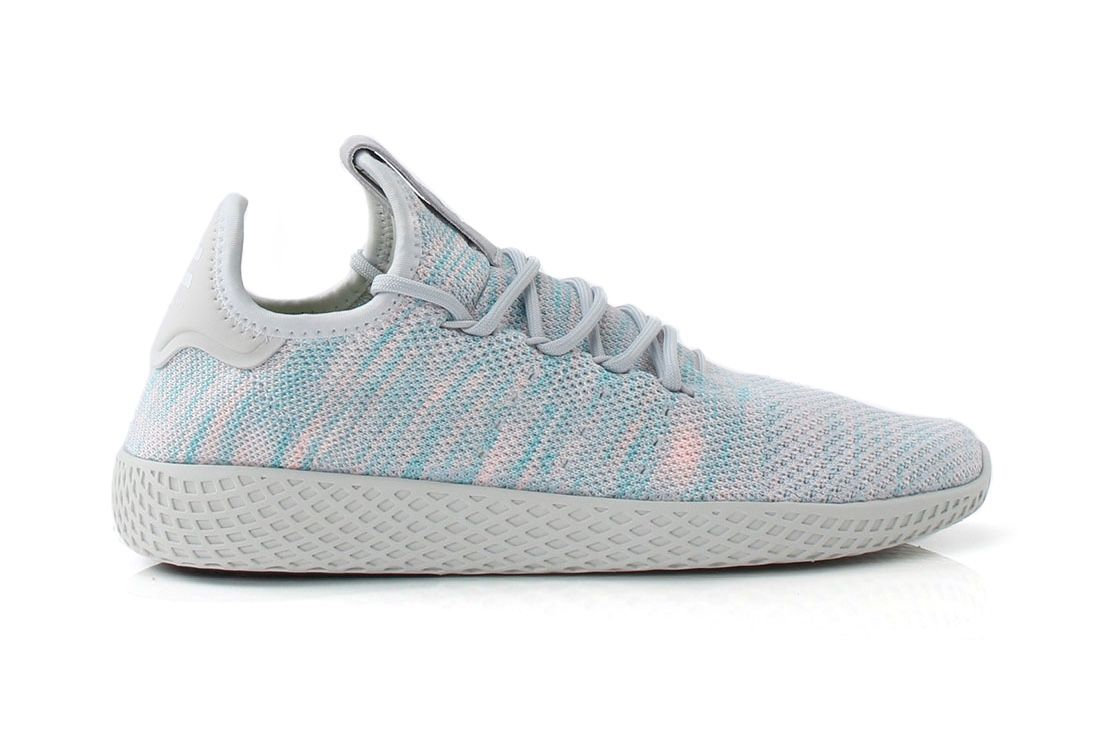adidas Originals and Pharrell Williams launched the Tennis Hu in May,  dressing the silhouette in classic tennis shoe color palettes,  complementing the snea