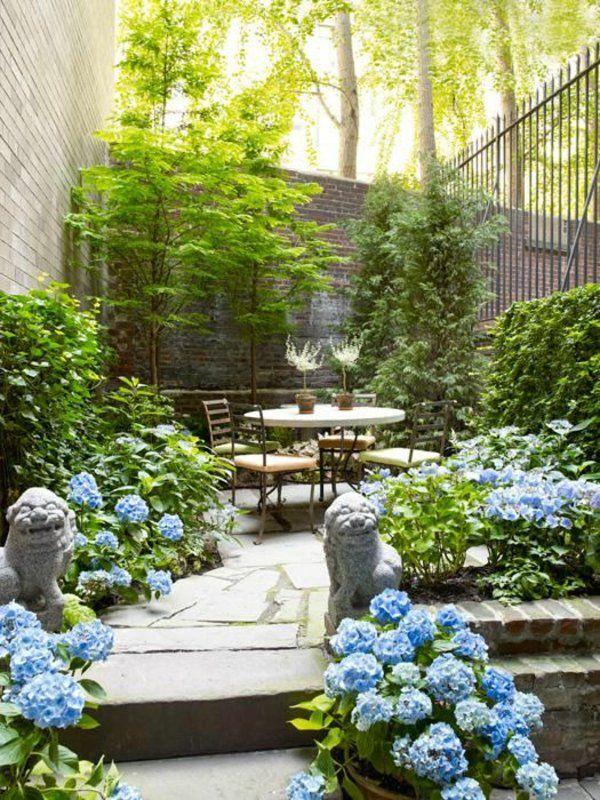 garten mit steinmauer und sitzecke terrasse Pinterest - sitzecke im garten mit steinmauer