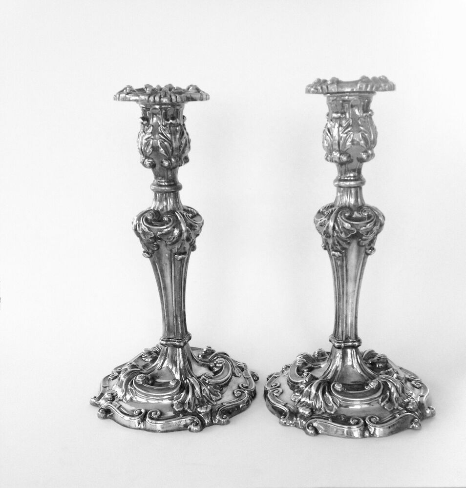 Vintage Reed and Barton Silver Rococo Style Tall Candle ... on Antique Style Candle Holder Sconces id=88712