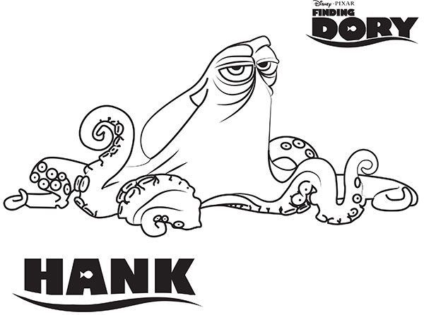 hank-finding-dory-coloring-pages Risko Pinterest Rock painting - new pixar coloring pages finding nemo