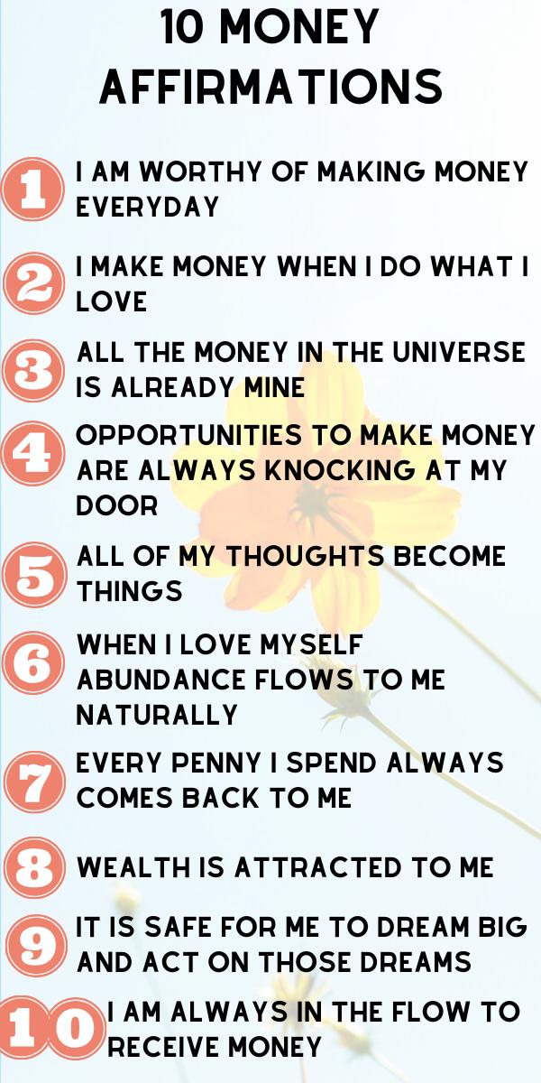 Use These 10 Positive Affirmations to Manifest Abundance
