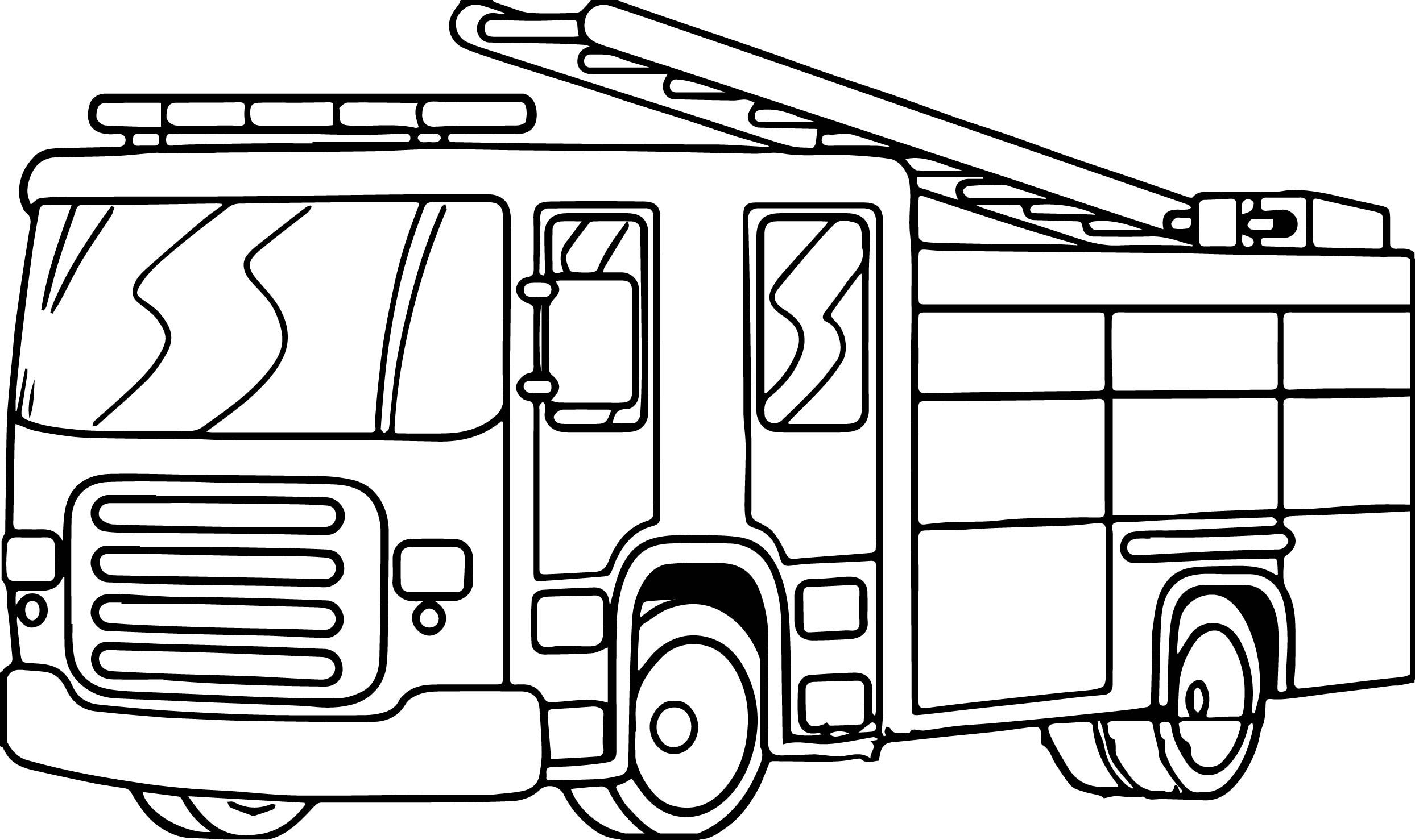 Cool Fire Truck Free Download Coloring Page With Images