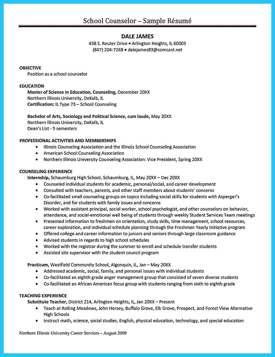 nice Outstanding Counseling Resume Examples to Get Approved ...
