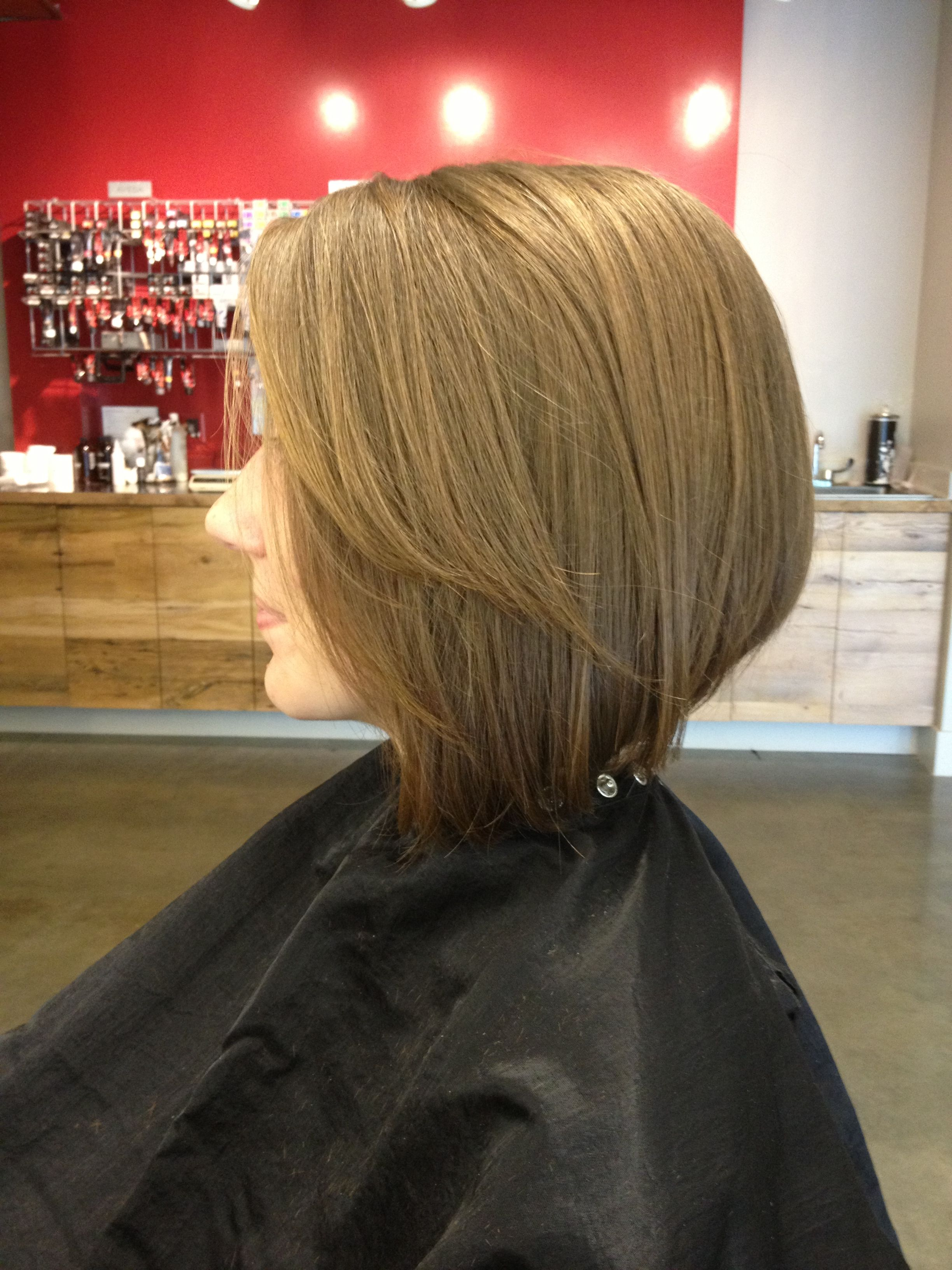Aveda cutting technique. Horizontal graduation. Zona Salon Norwell