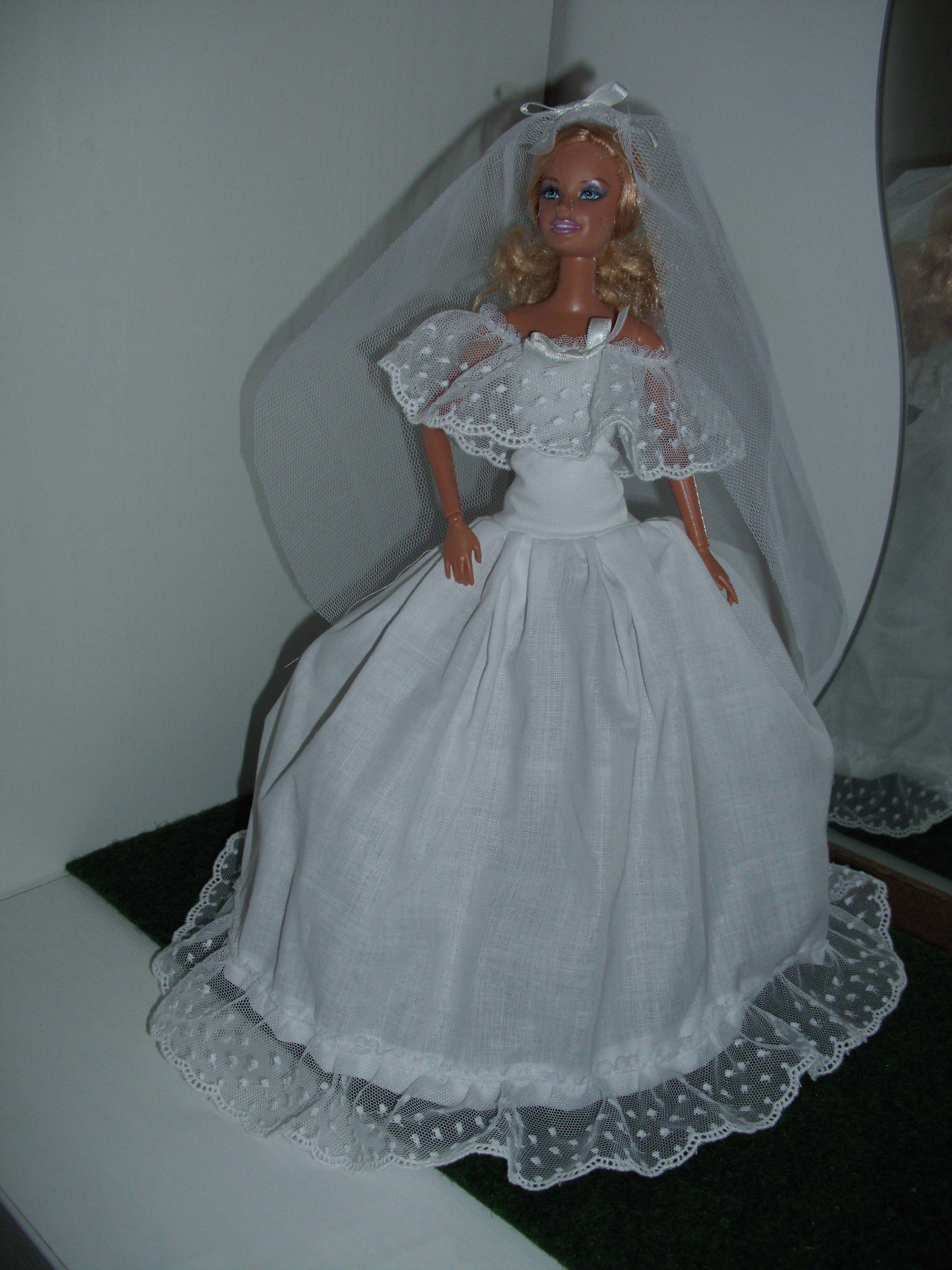 Barbie Wedding dress | Barbie ruha ruhák SYSY dress and clothes ...