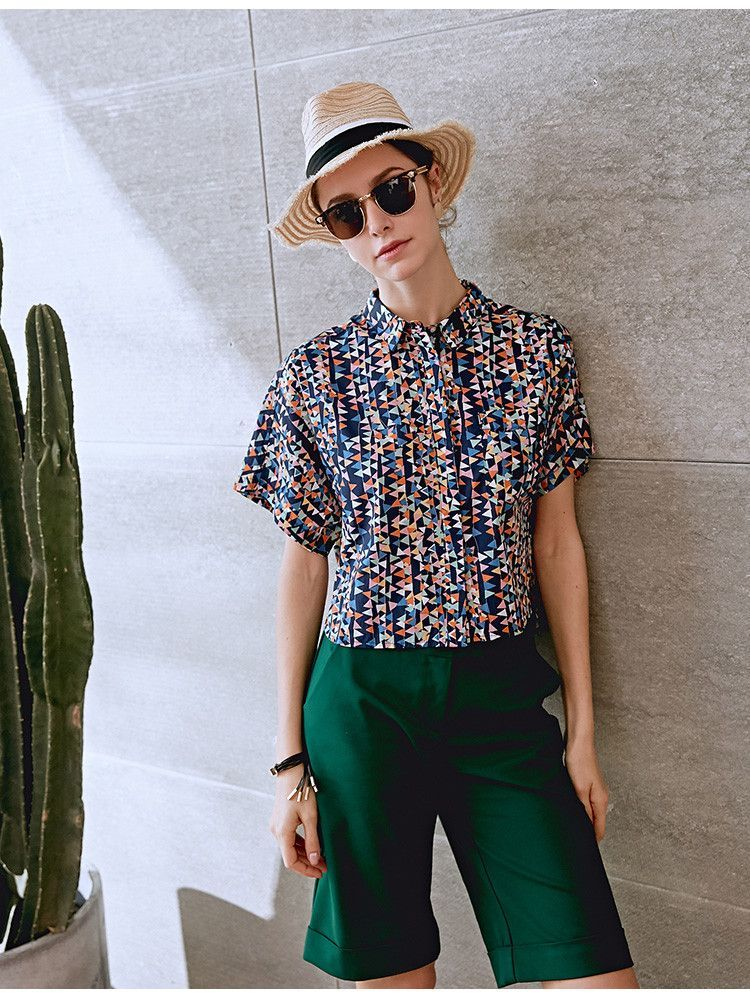 #AdoreWe Few Moda, Minimalistic Fashion Brands Online - Designer Few Moda Fashion Colorful Shirt TP1315 - AdoreWe.com