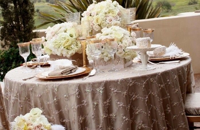 Tavolo Matrimonio ~ Tavola di matrimonio shabby chic tovaglia grigio perla tavola