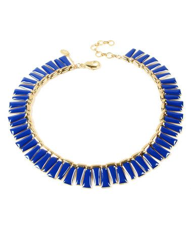 This Goldtone & Blue Dream Island Necklace is perfect! #zulilyfinds