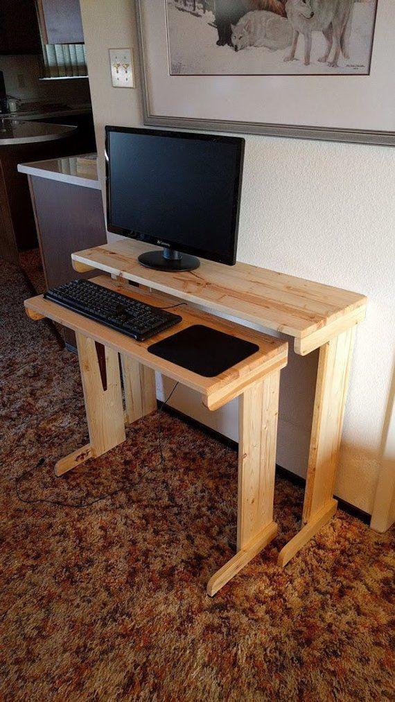 Computer Desk Wood Desk Small Desk Nested Desk Compact Desk Small Computer Desk Room Saving Desks For Small Spaces Small Computer Desk Diy Computer Desk