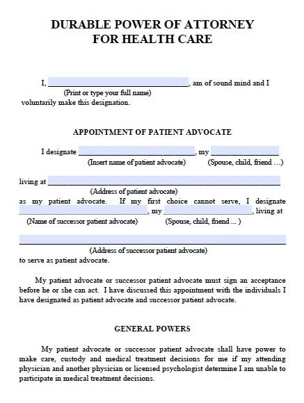 Free Medical Power Of Attorney Michigan Form  Pdf  Word  Power Of