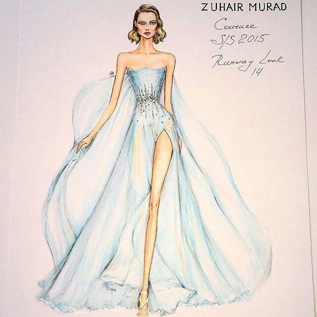 Chloebac Fashion Illustration Dresses Fashion Model Drawing