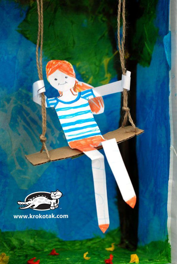 Swing From An Empty Shoe Box Krokotak Diorama Kids Preschool Art Activities Kids Art Projects