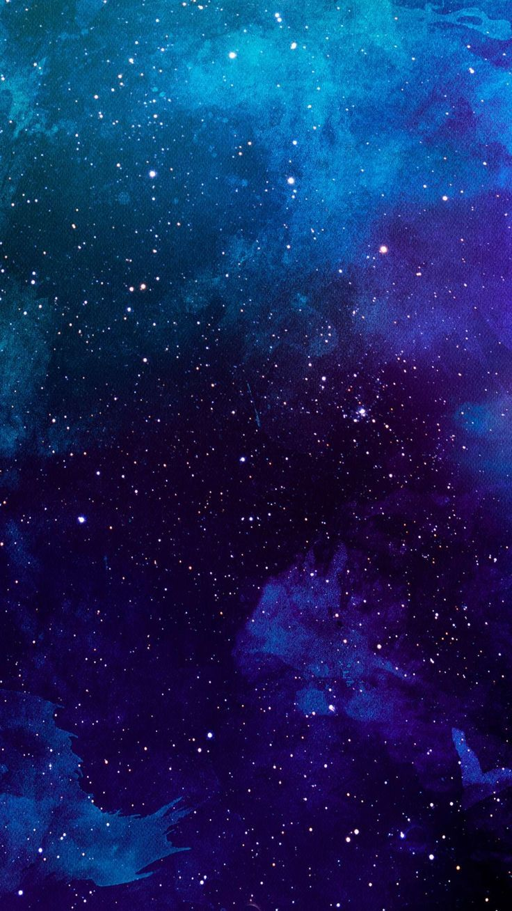 Blue And Purple Galaxy Langit Malam Lukisan Galaksi Cahaya Utara