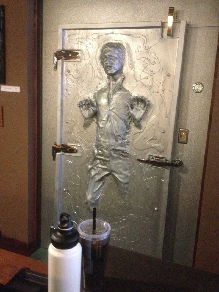 What Do You Think Of This Han Solo In Carbonite Freezer Door At A Barcade?