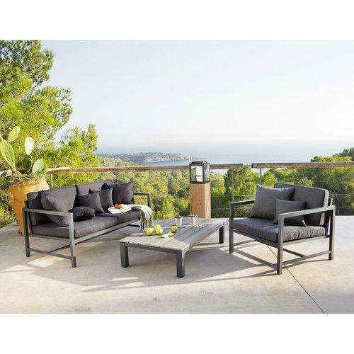 Table basse de jardin en aluminium L 130 cm