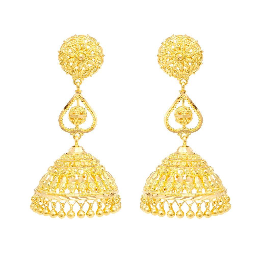 Traditional Love Heart Gold Earrings  Earrings  Type  Products
