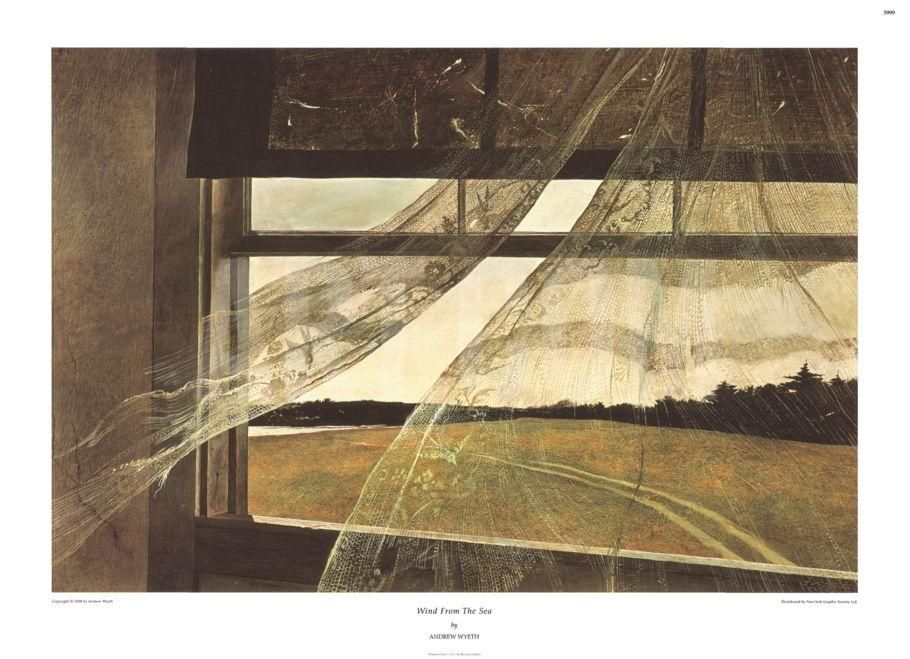 Wind From The Seaby Andrew Wyeth Andrew Wyeth Art Andrew Wyeth