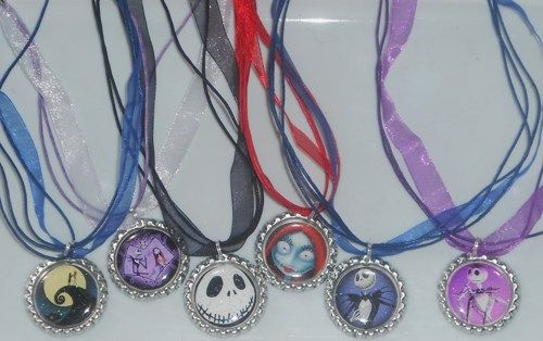 Nightmare before Christmas party favors 6 jack Skellington necklaces ...