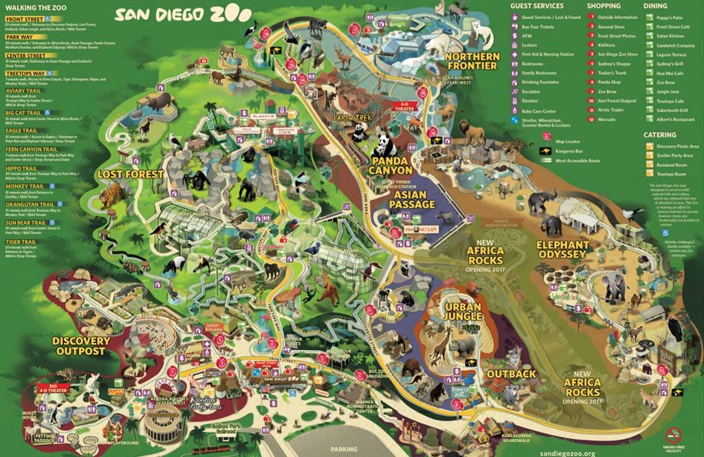Tips For Visiting San Diego Zoo Visit San Diego San Diego Zoo Zoo Map