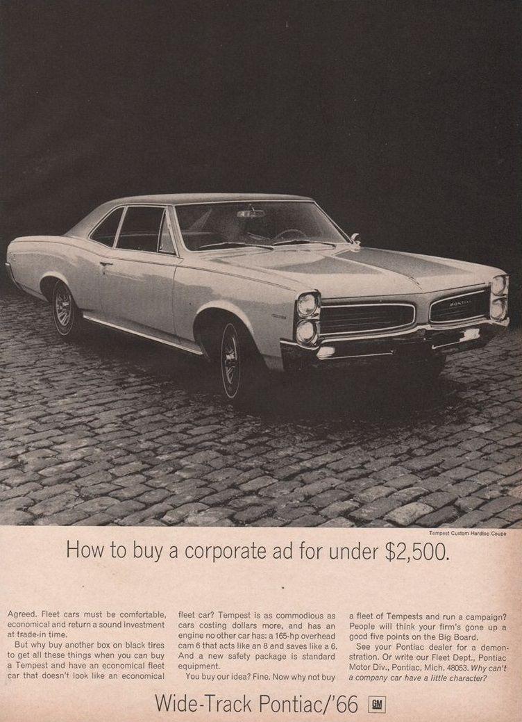 1966 PONTIAC OHC 6 FLEET AD. Same layout as FAKE IT ad. | PONTIAC ...