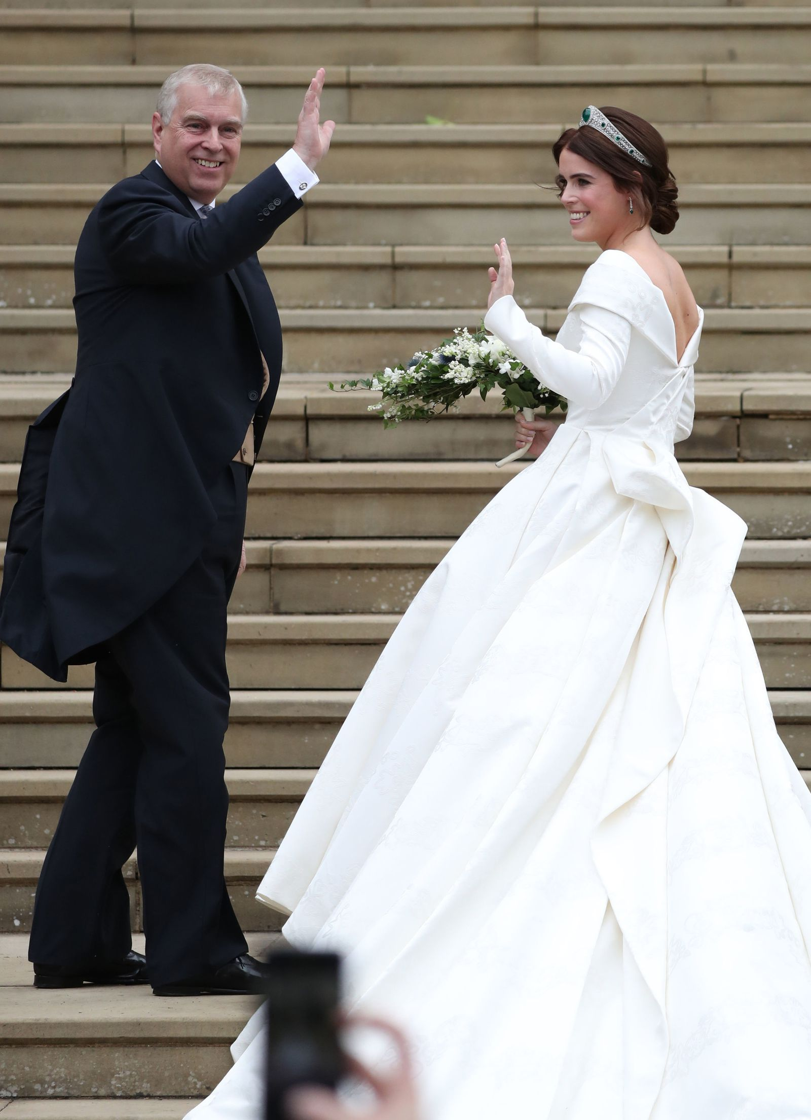 Take In All The Exquisite Detail Of Princess Eugenie S Peter Pilotto Wedding Dress With These Photos Eugenie Wedding Princess Wedding Royal Wedding Gowns [ 2209 x 1600 Pixel ]