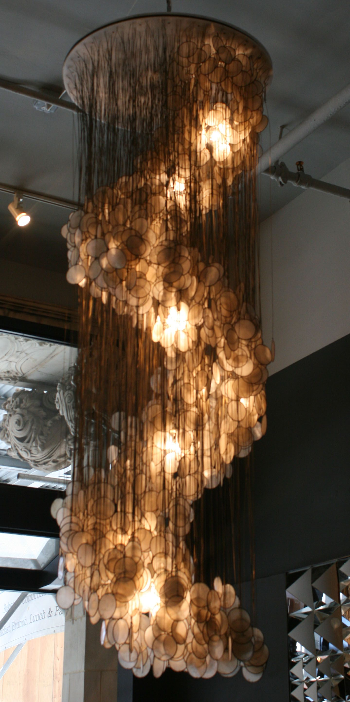 spiral oyster shell chandeliers Google Search
