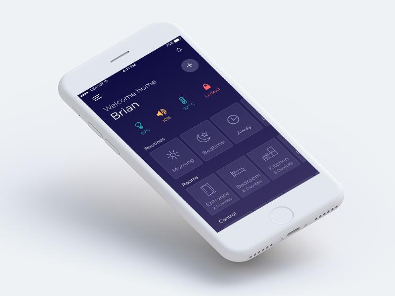 smart home automation app mobile ui examples smart home rh pinterest com