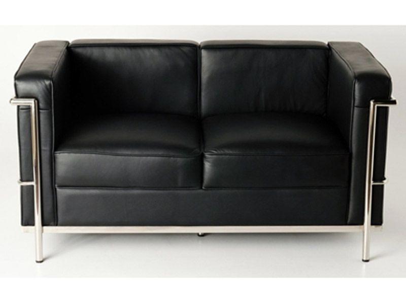 Lc2 le corbusier 2 places noir bauhaus pinterest fauteuils et mobilier - Canape cuir le corbusier ...